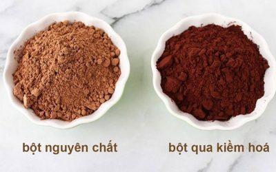 3 khác biệt giữa bột ca cao kiềm hóa & không kiềm hóa